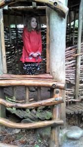 Audrey in African Village